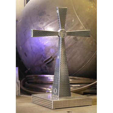 Diamond Plate Cross