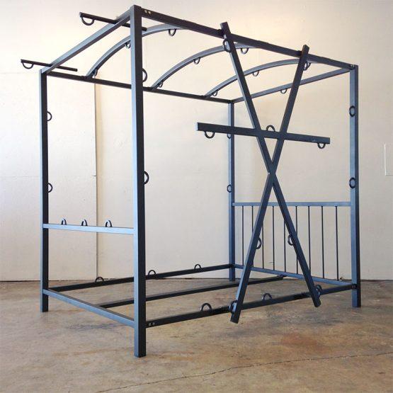 steel crossbound Bed