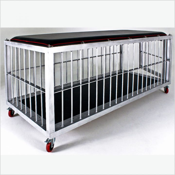 Large Aluminum Cage/Bed on wheels