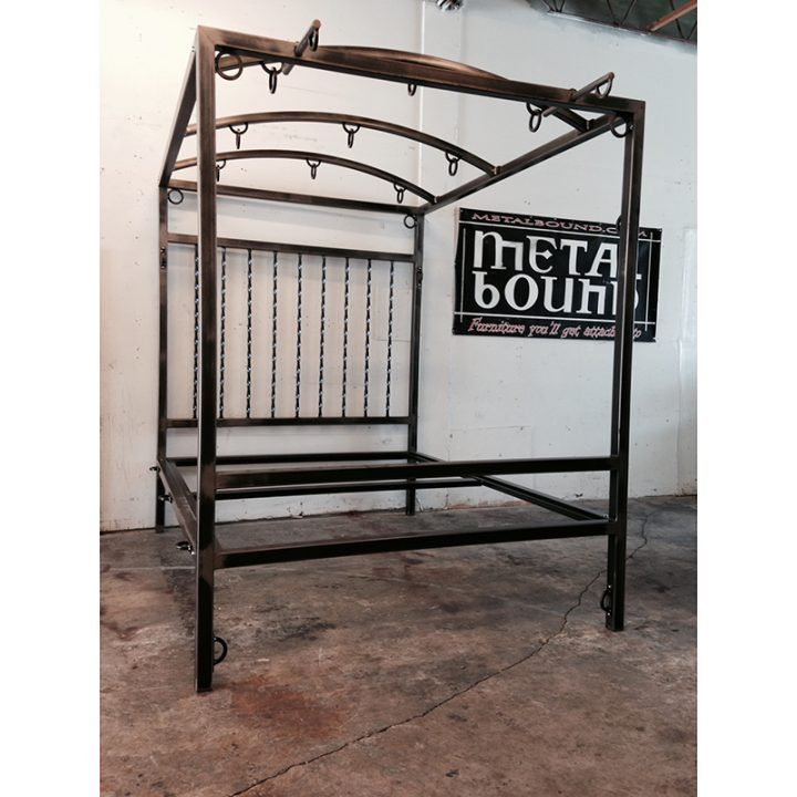 Customizable Steel Bondage Bed