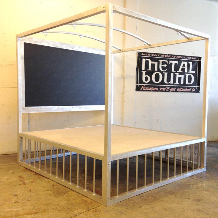 Aluminum Crossbound Bed w/ Cross & Stockade