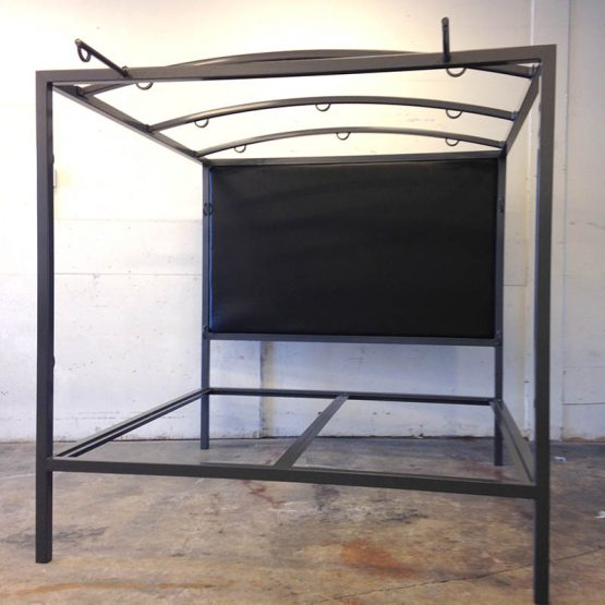 Multifunction Bondage Bed w/Upholstered Headboard