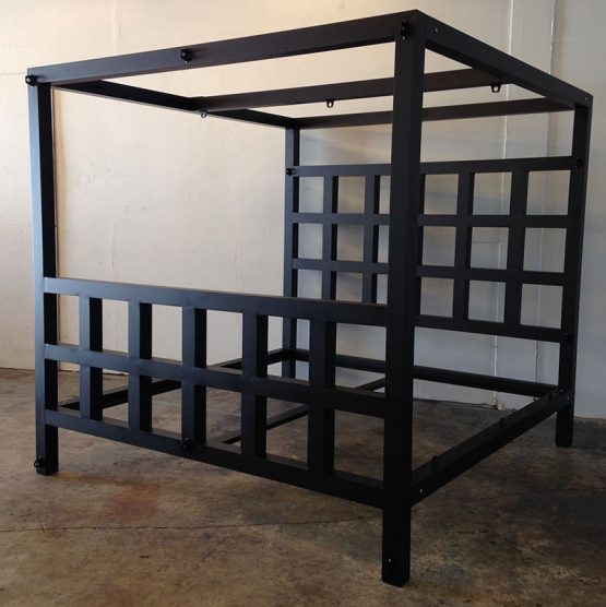King Size Window Pain Bed ( Powder Coat finish )