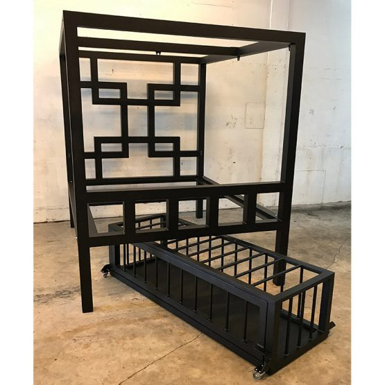 Asian Pain Bed W/Low Profile Cage